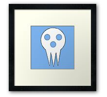 SOUL EATER Lord Death - Blue Framed Print