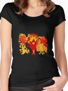 Sun Pokemon Women's Fitted Scoop T-Shirt