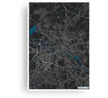 Berlin city map black colour Canvas Print