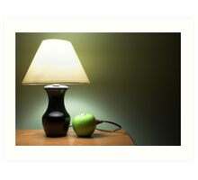 Apple Lamp Art Print