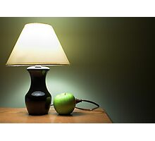 Apple Lamp Photographic Print
