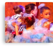 Dance Rehersal - Anticipation Canvas Print