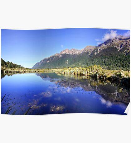 Mirror Lakes, New Zealand Poster