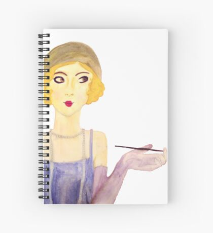 Flapper Girl Spiral Notebook