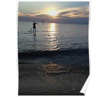 Sunset Paddleboarder  Poster