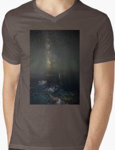 Milky way at a rocky sea coast in Syros island, Greece T-Shirt