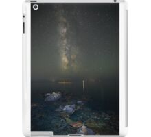 Milky way at a rocky sea coast in Syros island, Greece iPad Case/Skin