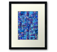 Abstract Composition in Shades of Blue With Accents of Other Colors –  April 11, 2010   Framed Print