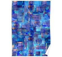 Abstract Composition in Shades of Blue With Accents of Other Colors –  April 11, 2010   Poster