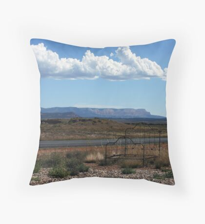 Open Air Motel Throw Pillow