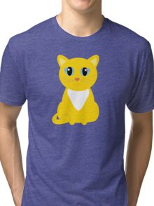 Only One Yellow Kitty Tri-blend T-Shirt