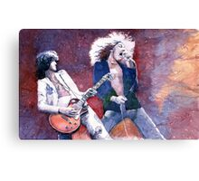 Led Zeppelin Jimi Page and Robert Plant  Canvas Print