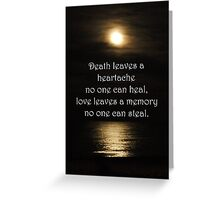 Full Moon reflected on water Sympathy card Greeting Card