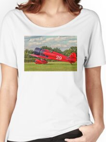 Travel Air Mystery Ship replica G-TATR taxies in Women's Relaxed Fit T-Shirt