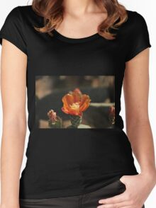 Cactus Flower Women's Fitted Scoop T-Shirt