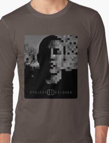 Desolate Designer Face Pixel Long Sleeve T-Shirt