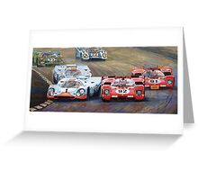 Ferrari vs Porsche 1970 Watkins Glen 6 Hours Greeting Card