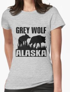 GREY WOLF Womens Fitted T-Shirt