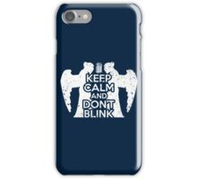 Doctor Who - Keep Calm and Don't Blink iPhone Case/Skin