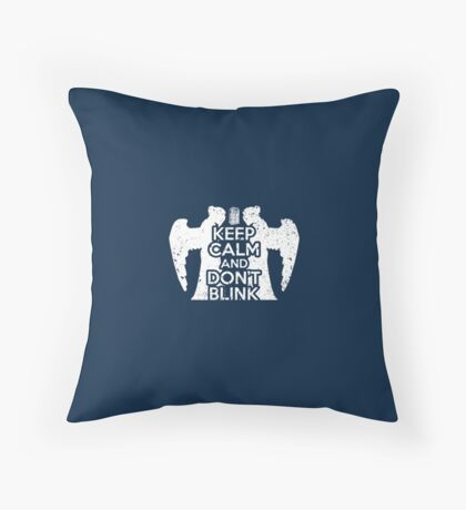 Doctor Who - Keep Calm and Don't Blink Throw Pillow