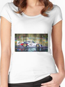 Porsche 935 Coupe Moby Dick Women's Fitted Scoop T-Shirt