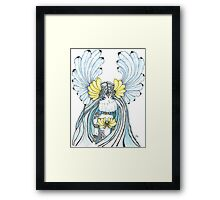 Watercolor and ink Greek Goddess Framed Print