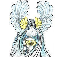 Watercolor and ink Greek Goddess Photographic Print