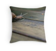 Snails Pace Throw Pillow