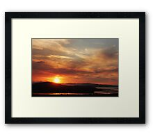 Solstice sunset Framed Print