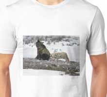 Grizzly Bear And Coyote Unisex T-Shirt