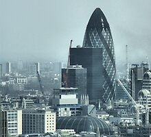 The Gherkin, London, England - HDR by Allen Lucas
