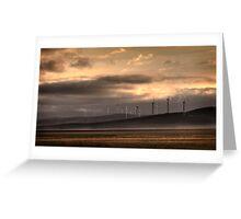 Lake George Wind farm. Greeting Card