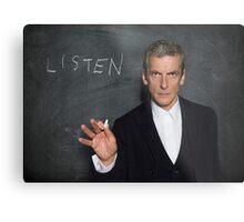 Doctor Who - Listen Metal Print