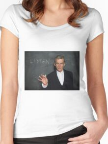 Doctor Who - Listen Women's Fitted Scoop T-Shirt