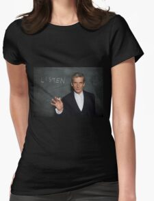 Doctor Who - Listen Womens Fitted T-Shirt
