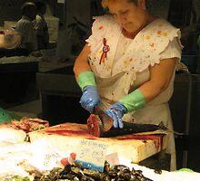 The fishmonger by erwina