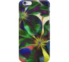 Colorful Clematis Abstract iPhone Case/Skin