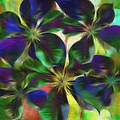 Colorful Clematis Abstract by Darlene Lankford Honeycutt