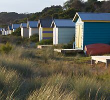 Bathing Boxes at Rye by Jocelyn Pride