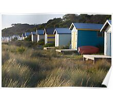 Bathing Boxes at Rye Poster