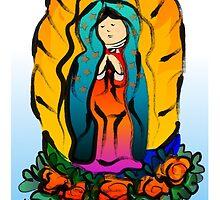 La Virgin de Guadalupe by elledeegee