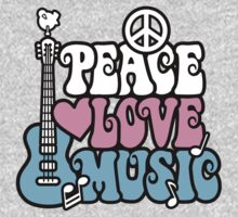 Peace, Love, Music Kids Clothes
