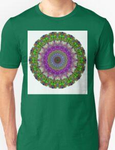 Soft Light - Kaliedescope Mandala By Sharon Cummings Unisex T-Shirt