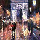 Paris Miting Point Arc de Triomphie by Yuriy Shevchuk