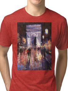 Paris Miting Point Arc de Triomphie Tri-blend T-Shirt