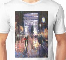 Paris Miting Point Arc de Triomphie Unisex T-Shirt
