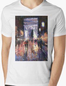 Paris Miting Point Arc de Triomphie Mens V-Neck T-Shirt