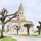 Eglise St. Maurice, Montbron, France by ian osborne