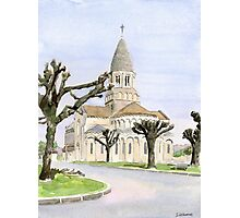 Eglise St. Maurice, Montbron, France Photographic Print