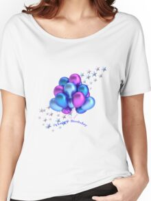Happy Birthday Balloons Women's Relaxed Fit T-Shirt